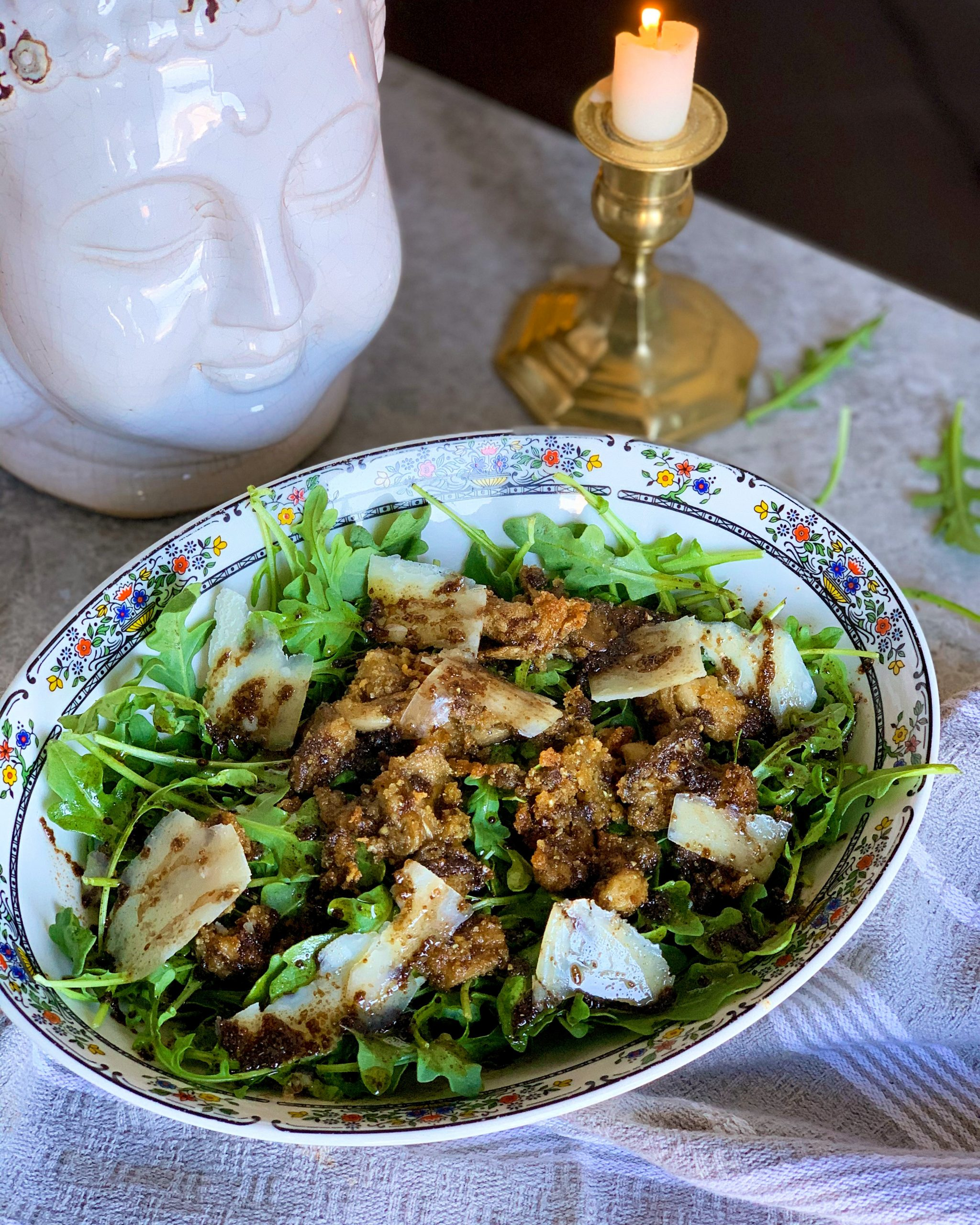 Funghi Assoluti (Warm Mushroom and Arugula Salad)