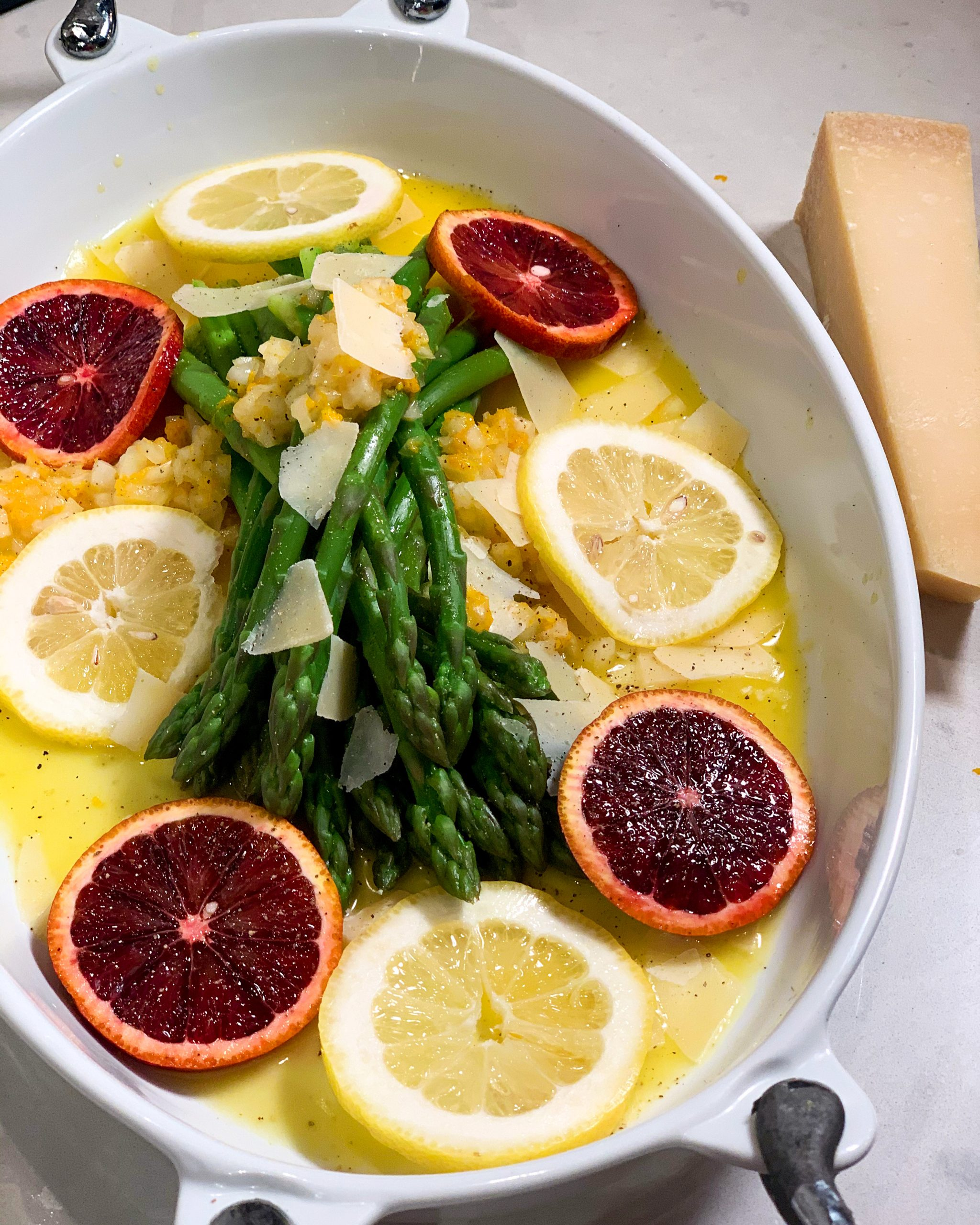 Orange Citrus Asparagus with Parmesan