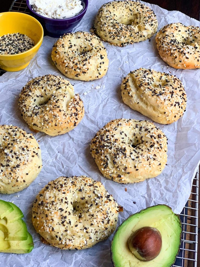 Healthy baked bagels