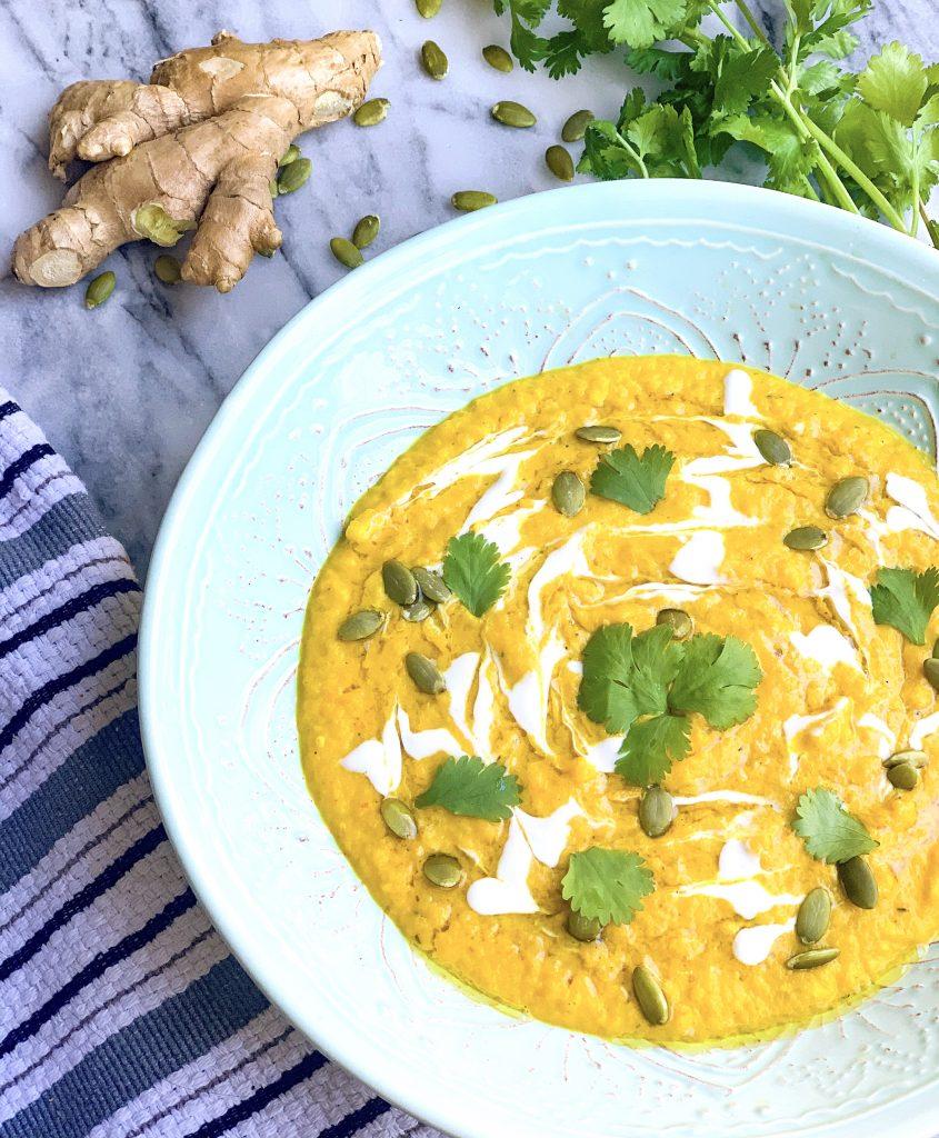 Coconut Carrot Turmeric Soup