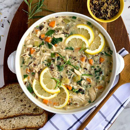 Lemon Chicken and Wild Rice Stew