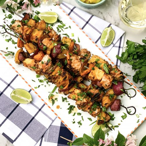 Grilled Pineapple and Chicken Kebabs
