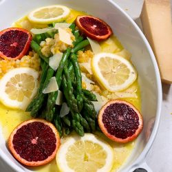 Orange Asparagus with Parmesan