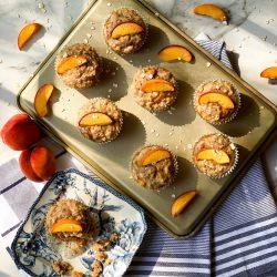 Peach Banana Muffins
